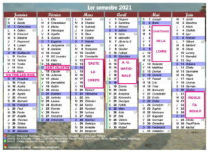 CALENDRIER PREVISIONNEL des SORTIES PACA en 2021